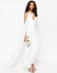 Свадебный костюм со съемным кейпом ASOS - Бежевый