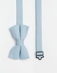 Синий галстук-бабочка с меланжевым эффектом ASOS - Синий