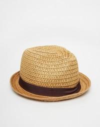 Соломенная шляпа-федора Goorin - Бежевый