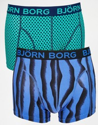 Набор из 2 пар боксеров-брифов с принтом Bjorn Borg - Синий