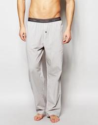 Свободные тканые штаны для дома в полоску Calvin Klein - Мульти