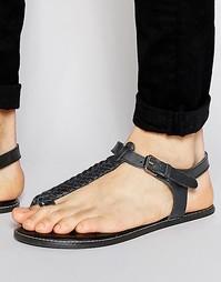 Черные сандалии из плетеной кожи ASOS - Черный