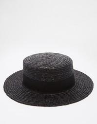 Черная соломенная шляпа ASOS - Черный