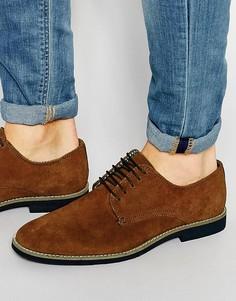 Светло-коричневые замшевые туфли дерби ASOS - Stone