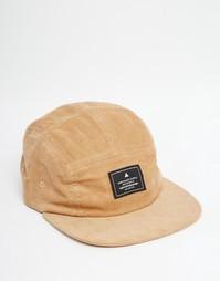 5-панельная вельветовая кепка коричневого цвета ASOS - Кэмел