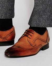 Кожаные туфли дерби с декоративной перфорацией Ted Baker Oakke
