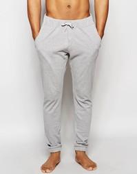 Серые меланжевые штаны в стиле casual из пике ASOS - Серый меланж