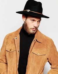 Коричневый кожаный ремешок на шляпу с крылом ASOS - Коричневый