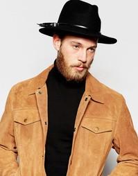 Черно-серебристый кожаный ремешок на шляпу ASOS - Черный