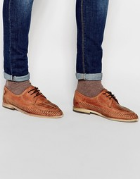 Плетеные туфли Hudson London Anfa - Коричневый