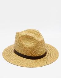Соломенная шляпа с широкими полями Catarzi - Бежевый