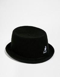 Мягкая шляпа с плоской круглой Kangol Bermuda Mowbray - Черный