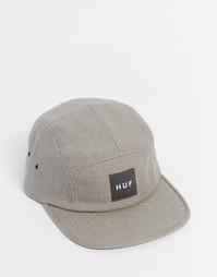 5-панельная кепка из однотонного льна HUF Volley - Бежевый