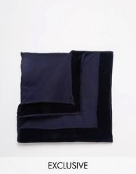 Бархатный платок для пиджака Reclaimed Vintage - Темно-синий