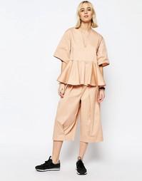 Юбка-шорты с широкими штанинами ASOS WHITE - Телесный