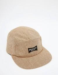 5-панельная кепка Brixton Ramsey - Рыжий