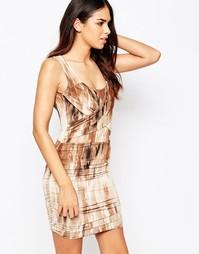 Платье с присборенной отделкой Hedonia Abi - Коричневый