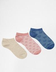 3 пары розовых спортивных носков с изнаночной строчкой Lovestruck