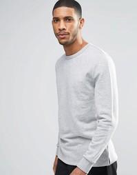 Серый меланжевый свитшот ASOS - Серый меланж
