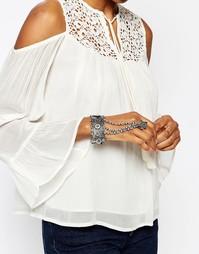 Серебристый браслет в восточном стиле Missguided - Серебряный