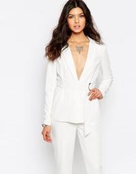 Классический пиджак с D-кольцом Y.A.S Nellie - Снежно-белый