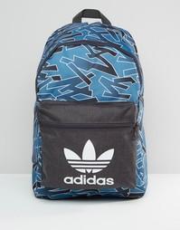 Рюкзак с принтом и шнурком adidas Originals AZ3256 - Синий