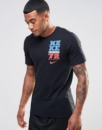 Черная футболка с принтом Nike Summer Camp 779743-010 - Черный