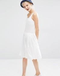 Платье без рукавов со складками на юбке I Love Friday - Белый