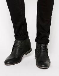 Кожаные ботинки чукка ASOS - Черная кожа