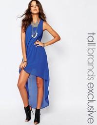 Асимметричное платье с открытой спиной Noisy May Tall - Синий