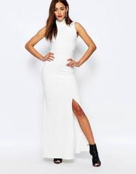 Платье макси с запахом на горловине Missguided - Белый