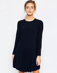 Платье со складками спереди Ted Baker - Темно-синий