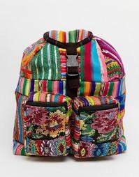 Маленький рюкзак с вышивкой Hiptipico - Мульти