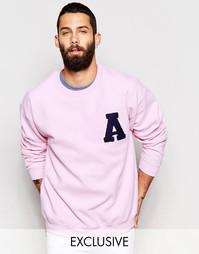 Oversize-свитшот в университетском стиле Reclaimed Vintage - Розовый