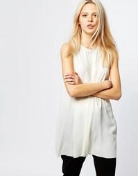 Блузка без рукавов с разрезом спереди Monki - Бежевый