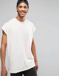 Oversize-футболка без рукавов с разрезами по бокам и асимметричным под Asos