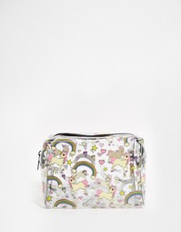 Прозрачная косметичка с единорогом и радугой ASOS - Мульти