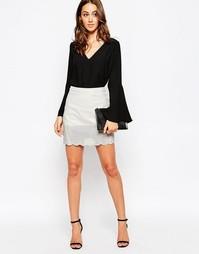 Полиуретановая юбка Millie Mackintosh - Белый