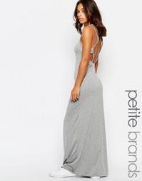 Платье с ремешками сзади Boohoo Petite - Серебристо-серый