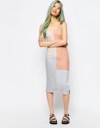 Платье-майка в рубчик с блочным принтом ASOS - Мульти