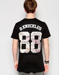 Футболка с цветочным принтом номера 88 Rum Knuckles - Черный