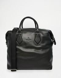 Кожаная сумка-саквояж Vivienne Westwood Weekender - Черный