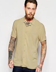Рубашка с отложным воротником ASOS - Кэмел