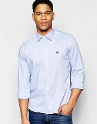 Оксфордская рубашка Franklin and Marshall - Оригинальный синий