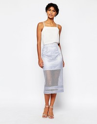 Кружевная юбка-карандаш ASOS Co-ord - Сиреневый