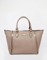 Большая сумка-тоут с молниями Dune - Серо-коричневый