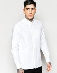 Белая оксфордская рубашка слим с карманом Fred Perry Laurel Wreath