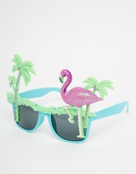 Солнцезащитные очки с фламинго NPW - Мульти