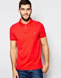Ярко-красное поло классического кроя с логотипом Jack Wills