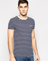 Темно-синяя футболка в полоску с карманом Jack Wills
